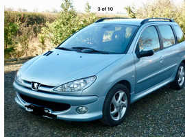 Peugeot 206, sw 2003 (03) Silver Estate, Manual Diesel, 87,100 miles