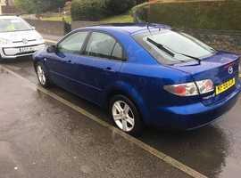 Mazda MAZDA 6, 2006 (56) Blue Hatchback, Manual Petrol, 182,000 miles