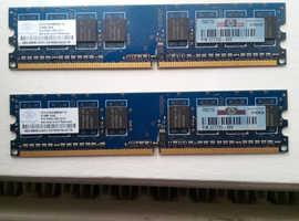 2x 512MB Ram for desktop pc