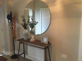 House Doctor modern round clear mirror