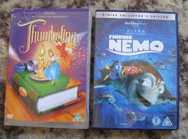 2 DVDS 2 DISC COLLECTORS EDITION FINDING NEMO & THUMBELINA BOTH U GOOD CONDITION