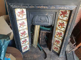 Victorian fireplace and fender
