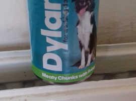 7 dozen tins dog food
