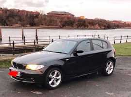 BMW 1 series, 2008 (08) Black Hatchback, Manual Petrol, 75,000 miles