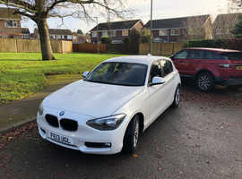 BMW 1 series, 2013 (13) White Hatchback, Manual Diesel, 120,700 miles