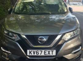 Nissan Qashqai, 2017 (67) Grey Hatchback, Cvt Petrol, 40,284 miles