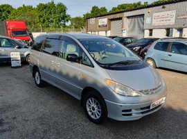 Toyota Estima, 2000 (V) Silver MPV, Automatic Petrol, 139,000 miles