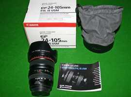 Canon L series EF 24 -105mm f/4 L IS USM