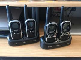 Set of 4x Binatone Two-Way Radios - Excellent Condition