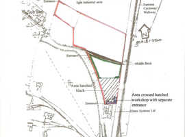Two workshops with land for sale