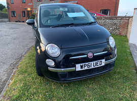 Fiat 500, 2012 (61) Black Hatchback, Manual Petrol, 79,100 miles