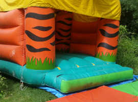 Commercial inflatable Bouncy Castle (tiger ) in good condition
