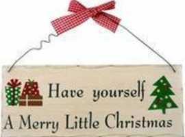MERRY LITTLE CHRISTMAS SHABBY PLAQUE