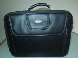 Quality Antler Leather Laptop Case, Well padded with loads of storage for phones, cables etc.