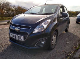 Chevrolet Spark, 2013 (13) Black Hatchback, Manual Petrol, 70,064 miles