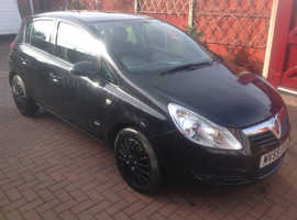 Vauxhall Corsa, 2009 (59) Black Hatchback, Manual Diesel, 124,600 miles