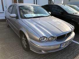 Jaguar X-TYPE, 2002 (02) Silver Saloon, Automatic Petrol, 99,894 miles