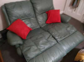 Double Recliner Sofa in Top Quality Soft Leather