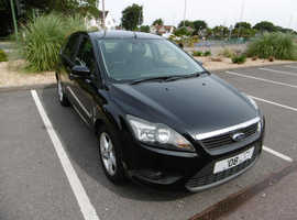 Ford Focus, 2008 (08) Black Hatchback, Manual Petrol, 96,144 miles
