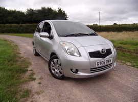 Toyota Yaris, 2008 (08) Silver Hatchback, Semi auto Petrol, 64,725 miles