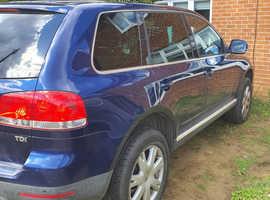 Volkswagen Touareg, 2006 (06) Blue Estate, Automatic Diesel, 152,626 miles