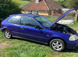 Honda Civic, 1998 (S) Blue Hatchback, Manual Petrol, 134,000 miles