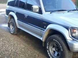 Mitsubishi Pajero, 1992 (K) blue 4x4, Automatic Diesel, 220,000 miles