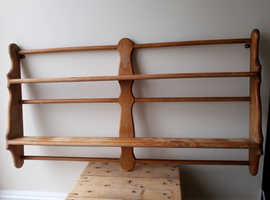 Well made wooden plate rack