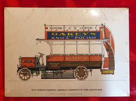 '1910 London General Omnibus Company' tin sign