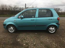 Daewoo Matiz, 2004 (54) Blue Hatchback, Manual Petrol, 61,000 miles