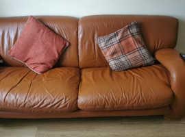3&2 seater leather sofa FREE