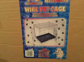 Medium size dog. cage