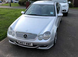 Mercedes C CLASS, 2008 (57) Silver Coupe, Automatic Diesel, 134,800 miles