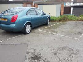 Nissan Primera, 2002 (52) Blue Hatchback, Manual Petrol, 92,000 miles