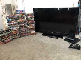 """42"""" tv,dvd bundle"""