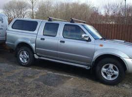 Nissan Navara, 2003 (03) Silver 4x4, Manual Diesel, 140,000 miles