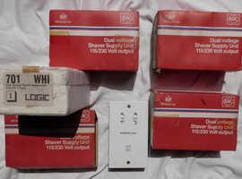 4x MK dual voltage shaver sockets.