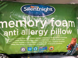 Silent night memory foam pillow - new & unsealed