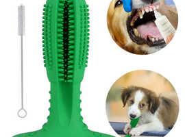 Dog toothbrush chew stick