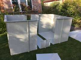 4000 Litre reinforced fibreglass storage tank with lid. Unused multiple possible uses  Storage, Fish, Floatation,Mixing tank, Garden pool etc