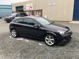 Vauxhall Astra, 2008 (08) Black Coupe, Manual Diesel, 95,000 miles
