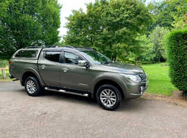 Mitsubishi L200, 2015 (65) Green 4x4, Manual Diesel, 58,000 miles, 1 owner from new, full mitsubishi main dealer service history! warranty with MS!