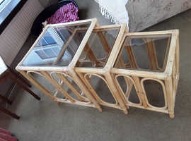 Bamboo side tables