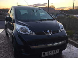 Peugeot 107, 2010 (10) Black Hatchback, Manual Petrol, 99,000 miles