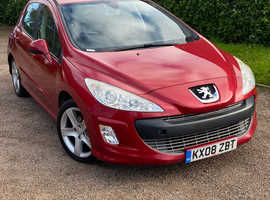 ***Peugeot 308, 2008 (08) Red Hatchback, Manual Diesel, 90,491 miles