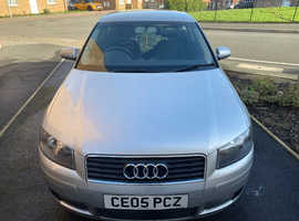 Audi A3, 2005 (05) Silver Hatchback, Manual Petrol, 85,000 miles