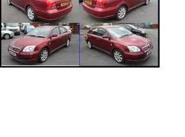 Toyota Avensis, 2006 (06) Red Hatchback, Manual Diesel, 166,600 miles