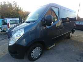 2011 Renault Master 100Dci Wheelchair Van MPV with Ricon lift, 5 seats, sat nav, air con,  Free Delivery, px welcome