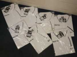 QUALITY BRANDED WHITE POLO SHIRTS
