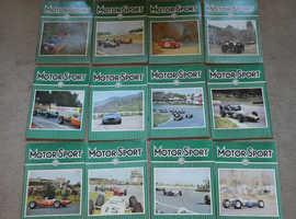 1964 (2) MOTORSPORT MAGAZINES COMPLETE SET JAN - DEC